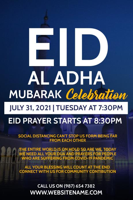 Eid Al Adha Celebration Template Plakkaat