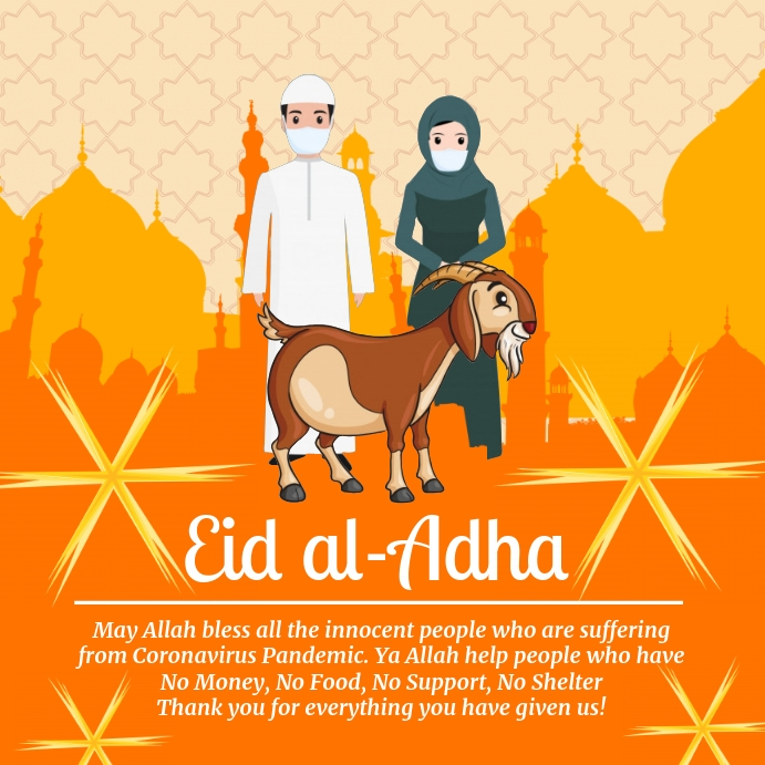 Eid Al Adha Celebration Template Quadrato (1:1)