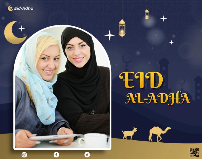 Eid Al-Adha Poster/Wallboard template