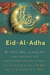 Eid-Al-Adha Plakkaat template