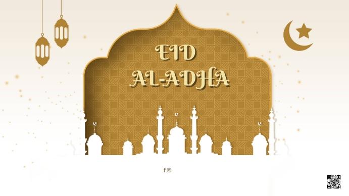 Eid Al-Adha Digitalt display (16:9) template