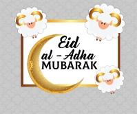 Eid al adha Design สามเหลี่ยมขนาดใหญ่ template