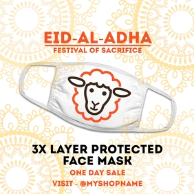 Eid Al Adha Face Mask Sale Template