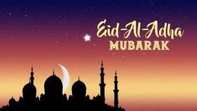 Eid al adha Mubarak Cover Social Media Vídeo de portada de Facebook (16:9) template