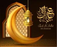Eid Al Adha Mubarak สามเหลี่ยมขนาดกลาง template
