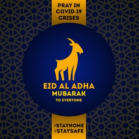 Eid Al Adha Mubarak Greeting Template Square (1:1)
