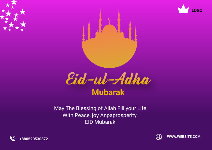 eid al adha mubarak Postcard 明信片 template