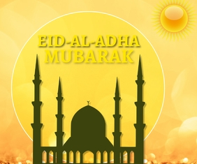 EID-AL-ADHA MUBARAK TEMPLATE Medium Rectangle