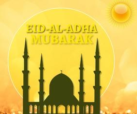 EID-AL-ADHA MUBARAK TEMPLATE Rettangolo medio