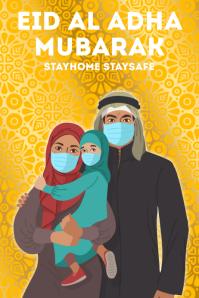 EID AL ADHA MUBARAK TEMPLATE Plakat