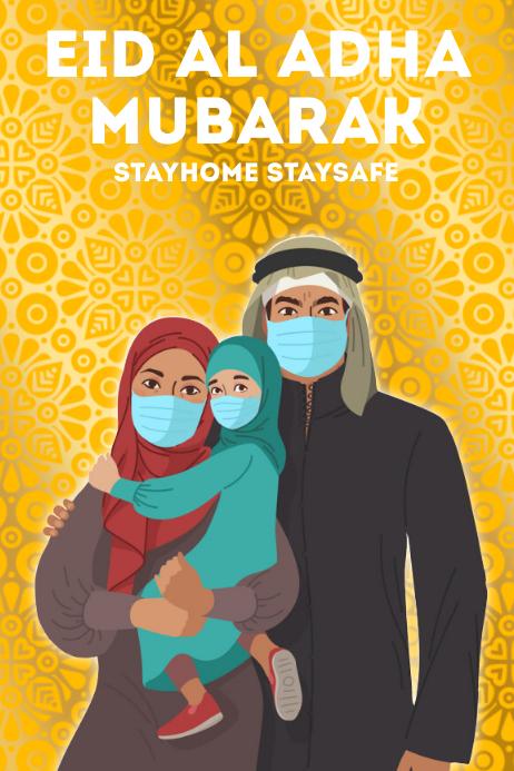 EID AL ADHA MUBARAK TEMPLATE Poster