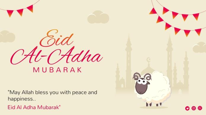 Eid Al Adha Mubarak Twitter Post Twitter-bericht template