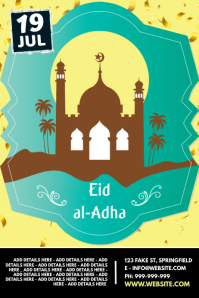 Eid Al-Adha Poster template