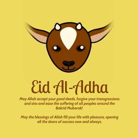 Eid Al Adha Poster Template Square (1:1)