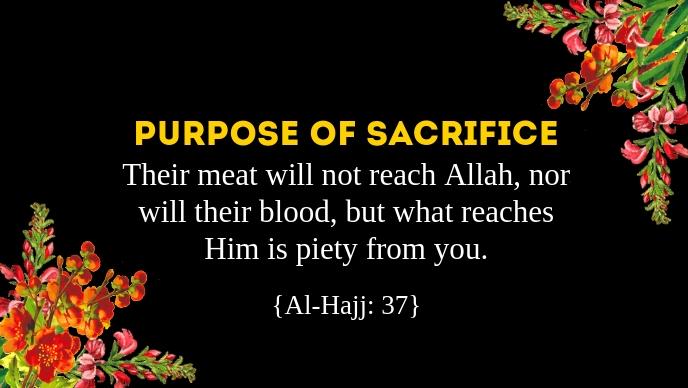 Eid Al Adha Purpose of Sacrifice Template Video Sampul Facebook (16:9)