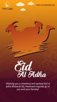 eid al adha wishing Instagram Story post template