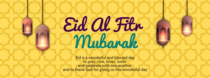 Eid Al Fitr Mubarak Template Facebook Omslag Foto