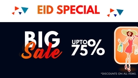 Eid big Sale Facebook Cover Video