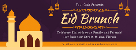 Eid Brunch Invite Facebook Event Cover template