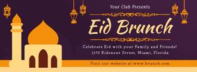 Eid Brunch Invite Facebook Event Cover template