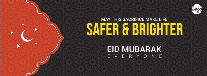 Eid card cover Facebook Omslag Foto template