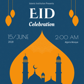Eid Celebration Event Invite Instagram Post Template