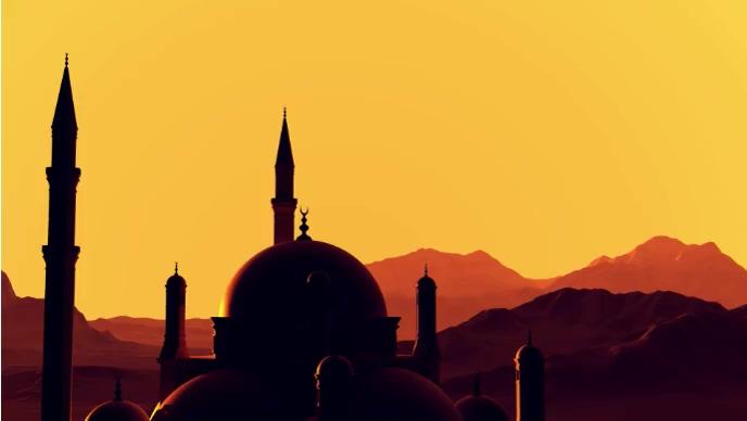 Eid celebration happy Eid video YouTube-miniature template
