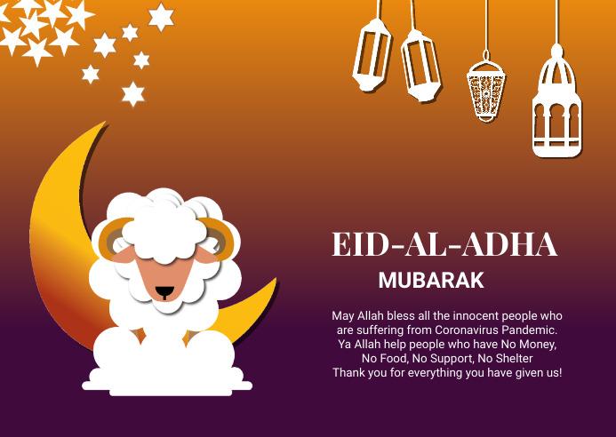 Eid celebration postcard 明信片 template