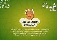 Eid celebration social media post Briefkaart template