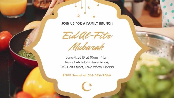 Eid Dinner Invitation and Wish Facebook Video