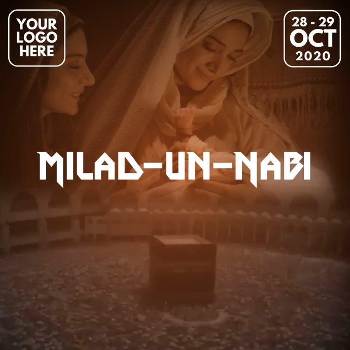 Milad-un-Nabi Mubarak Video Template Post Instagram