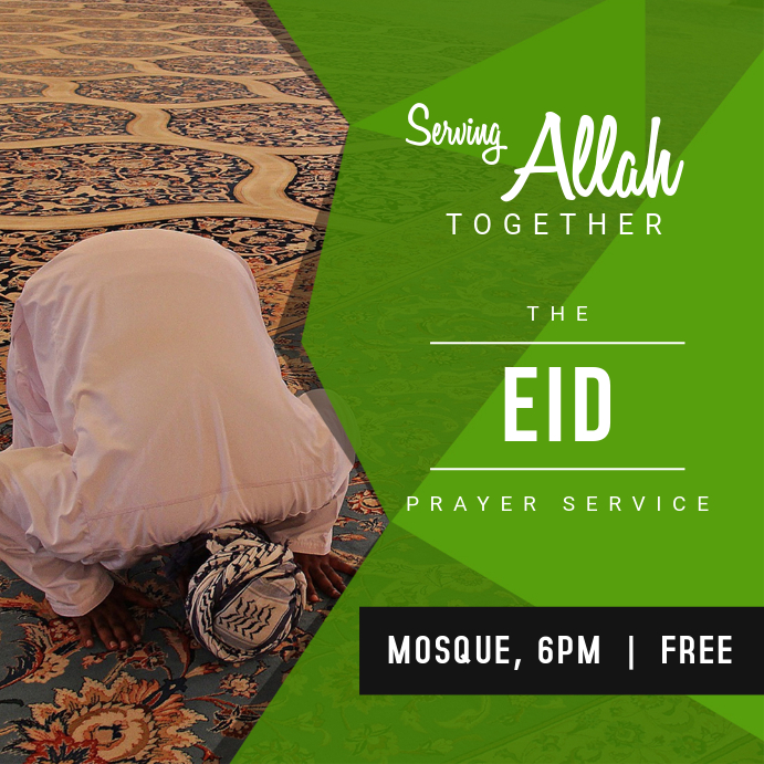 Eid Event Invitation Card Template Instagram