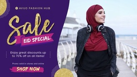 Eid Fashion Sale In Store Display Banner