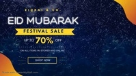 Eid Festivity Sale In Store Display Banner