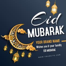 eid fitr mubarak instgram square post template