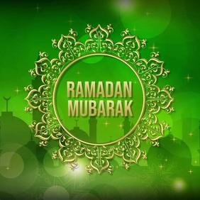 Eid Flyer, Ramadan Mubarak, Ramadan Kareem Vierkant (1:1) template