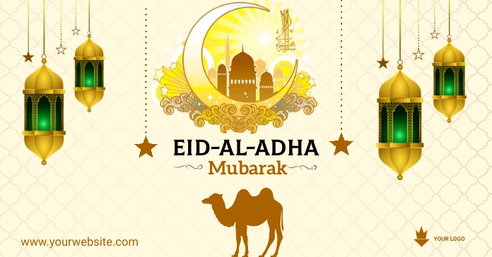 eid flyer design Facebook Ad template