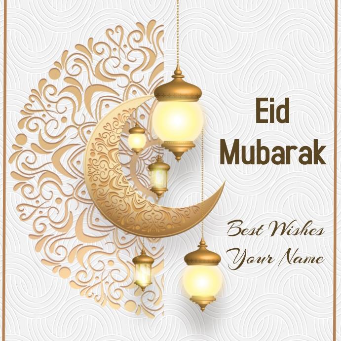 Eid Greeting Card Publicación de Instagram template