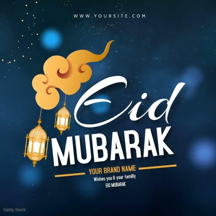 eid greeting mubarak editable video template  postermywall
