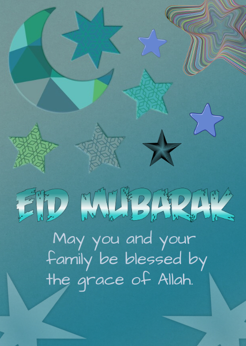 EID GREETINGS A6 template