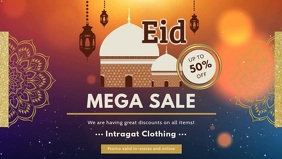 Eid Mega Sale Facebook Cover Video template