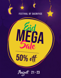 Eid Mega Sale Flyer Template
