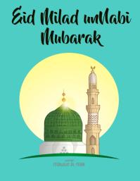 Eid miladun nabi mubarak Ulotka (US Letter) template