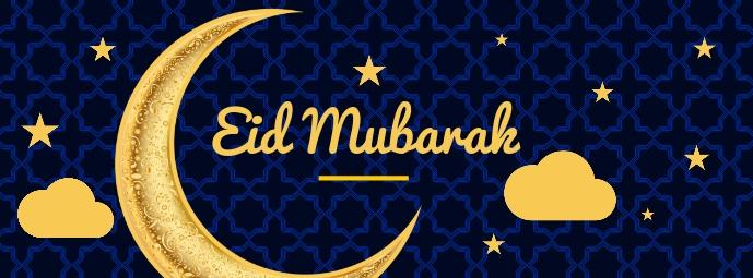 Eid Mubarak Best Wishes Template Facebook 封面图片