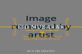 Eid Mubarak Best Wishes Template
