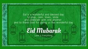 Eid Mubarak Best Wishes Video Template Видеообложка профиля Facebook (16:9)