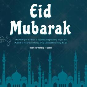 eid mubarak card Сообщение Instagram template