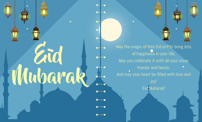 eid mubarak card template  postermywall