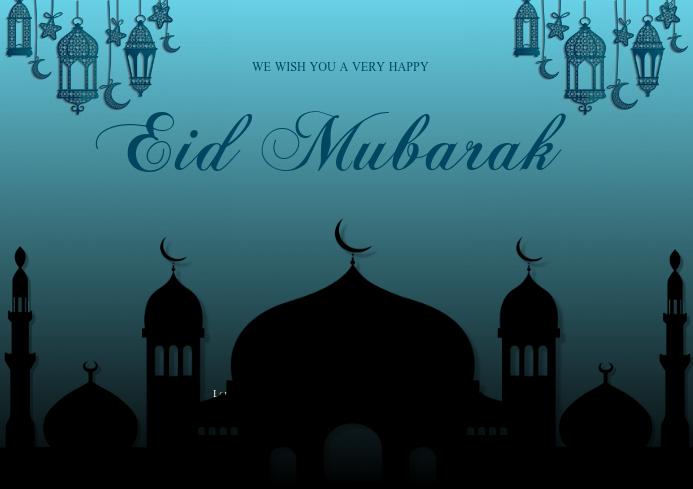 eid mubarak card template