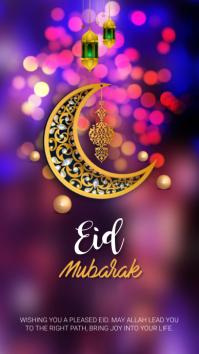 Eid Mubarak Instagram Story template